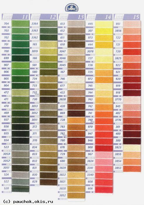 Таблица цветов DMC 2