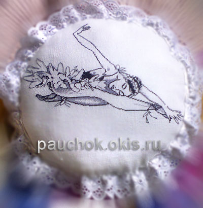 вышивка, балерина вышитая